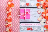 Beautiful romantic background on Valentines Day close-up — Foto de Stock