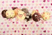 Tasty cake pops — Stock Photo