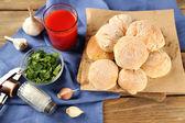Fresh homemade bread buns — Fotografia Stock