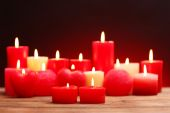 Romantic gift with candles, love concept — Foto de Stock