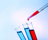 Pipette adding fluid — Foto de Stock