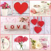 Valentine's Day photo collage — Stock Photo