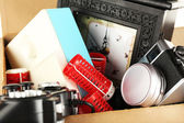 Box of unwanted stuff close up — Stock Photo