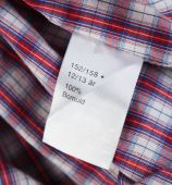 Label on clothing close-up  — Stock Photo