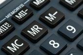 Macro view of calculator board — Stock fotografie