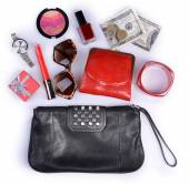 Ladies handbag and accessories — Foto de Stock