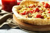 Vegetable pie with paprika — Stok fotoğraf