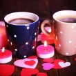 Two cups on table — Stock Photo #64797777