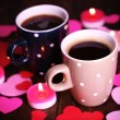 Two cups on table — Stock Photo #64797781