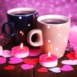 Two cups on table — Stock Photo #64797783