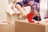 Packing boxes close-up — Stock Photo