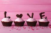 Valentine Day cupcakes — Fotografia Stock