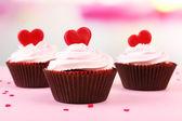 Valentine Day cupcakes — Stock Photo