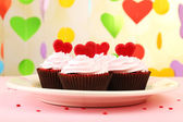 Valentine Day cupcakes — Stock Photo