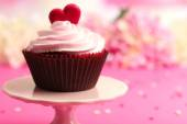 Valentine Day cupcakes — Stock fotografie