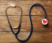 Stethoscope with heart — Stock Photo