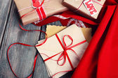 Love letters with gifts — Stock Photo