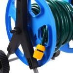 Garden hose on wheels isolated on white — Stock Photo #64875547