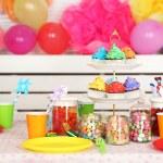 Prepared birthday table — Stock Photo #64942675