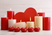 Romantic candles, love concept — Stock Photo