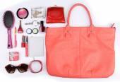 Ladies handbag and things — Foto de Stock