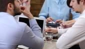 Grupa ludzi biznesu, praca w biurze — Zdjęcie stockowe