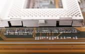 Computer motherboard, macro view — Stock Photo