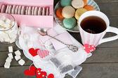 心形袋泡茶标签 — 图库照片