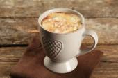 Cup of hot coffee with marshmallow — Stockfoto