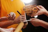 Autographs by baseball star — Foto de Stock