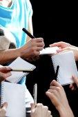 Autographs by football star — Fotografia Stock