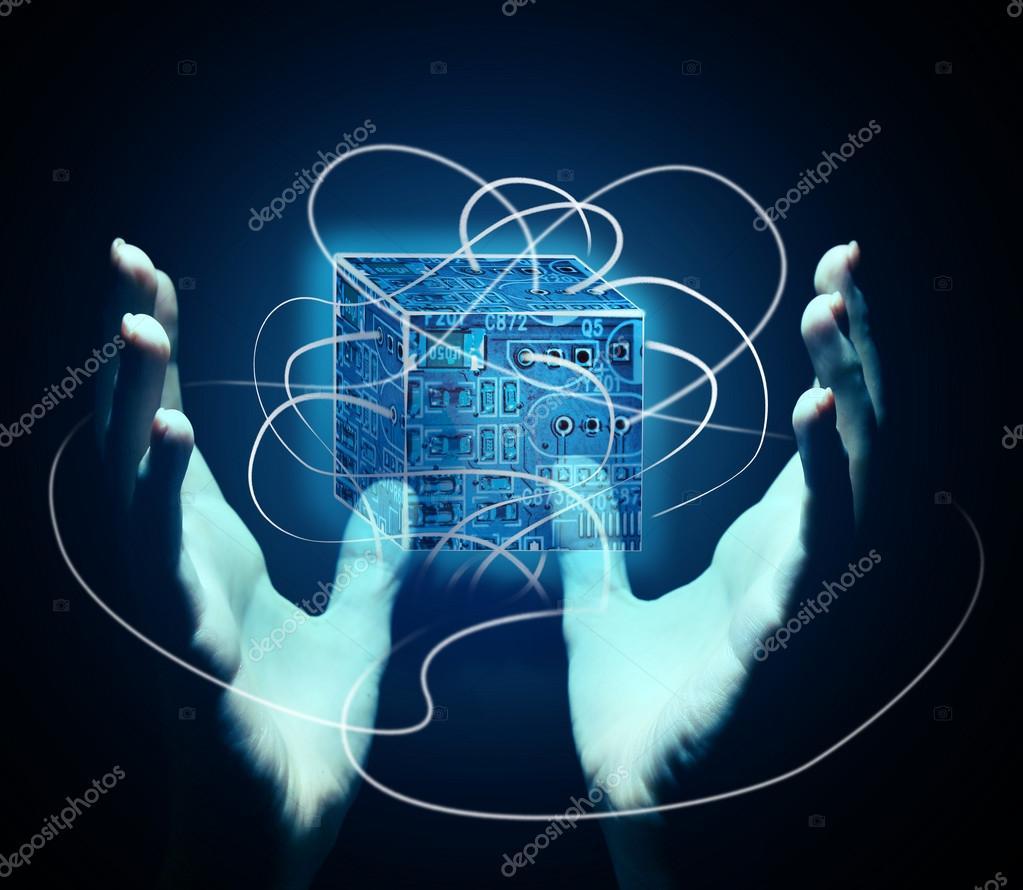 手与全息投影,未来投影的概念