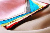 Kleurrijke stofstalen, macro weergave — Stockfoto