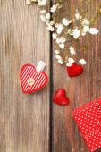 Handmade gift on Valentine Day — Stockfoto