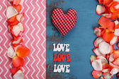 Beautiful romantic background on Valentines Day close-up — Stok fotoğraf