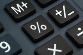 Macro view of calculator board — Stock Photo