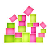Multicoloured wooden boxes — Stock Photo