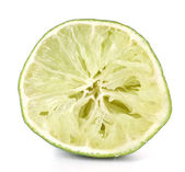 Squeezed lime isolated on white — Stock Photo