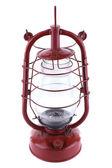 Kerosene lamp isolated on white — Stock Photo