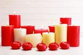 Romantic candles, love concept — Stock Photo