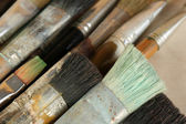 Different paintbrushes close up — Stock Photo