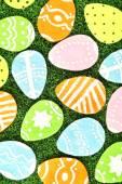 Colorful felt Easter eggs — Stock Photo
