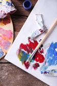 Professional art materials — Stock Photo