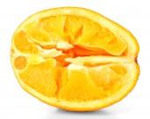 Squeezed orange isolated on white — Stock Photo