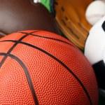 Sports balls close up — Stock Photo #65505425