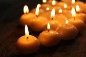Burning candles close-up — Stock Photo