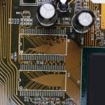 Computer motherboard, macro view — Stock Photo #65647403