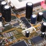 Computer motherboard, macro view — Stock Photo #65647405