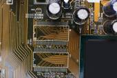 Computer motherboard, macro view — Stock Photo