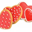 Heart shaped cookies for valentines day isolated on white — Stock Photo #65652587